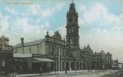 Town Hall, Hawthorn, 1912
