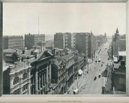 Collins Street, looking West, Melbourne, 1918