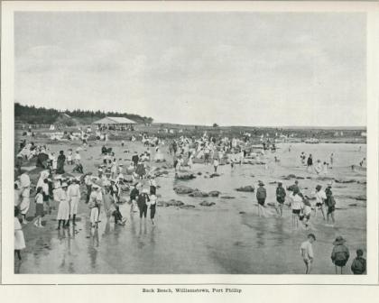 Back Beach, Williamstown, Port Phillip, 1918