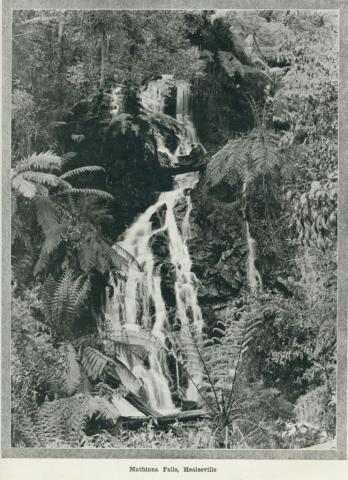 Mathinna falls, Healesville, 1918