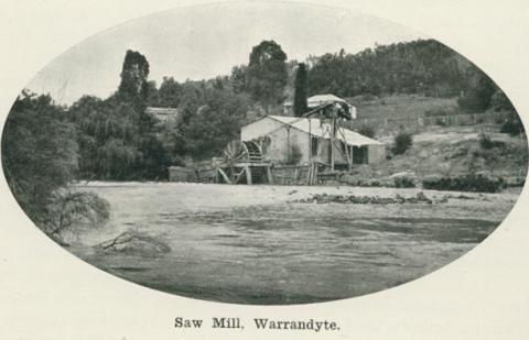 Saw mill, Warrandyte, 1918