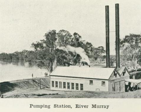 Pumping station, River Murray, 1918