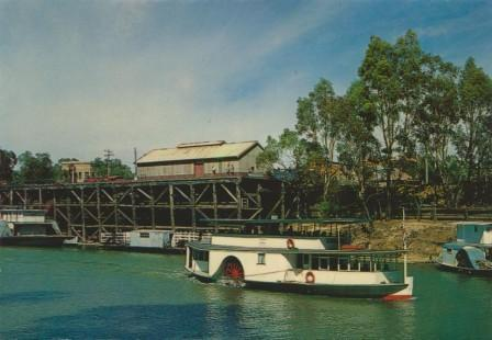 PS Canberra and the restored Port of Echuca