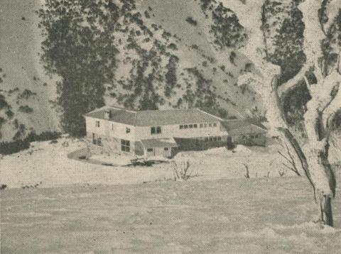 The Drift Chalet and Ski School, Mount Hotham, 1950