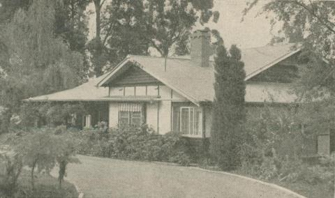 Bray Lodge Guest House, Olinda, 1947-48