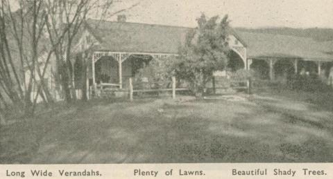 Florence Court Guest House, Healesville, 1947-48