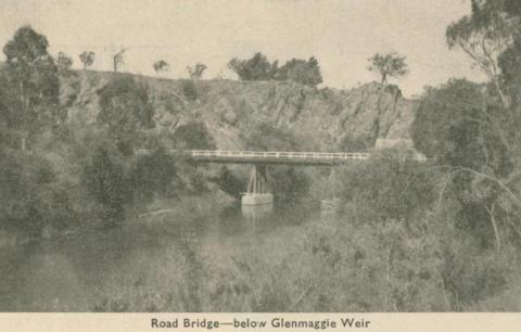 Road Bridge - below Glenmaggie Weir, Heyfield, 1947-48