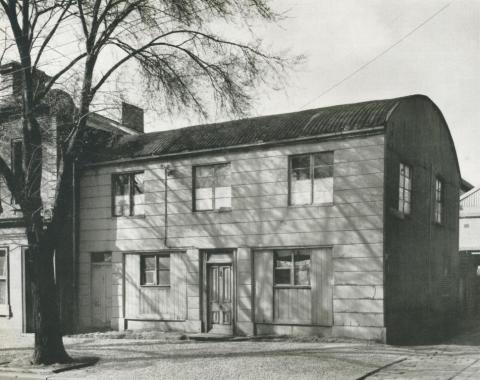A pre-fabricated Iron House, Victoria, 1956