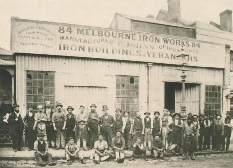Johns & Waygood workshop, 84 Flinders Lane, Melbourne, 1876