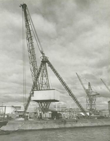 Jib-Crane, Williamstown naval dockyard, 1956