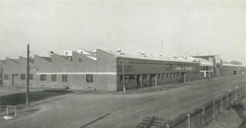 Johns & Waygood, Munitions annexe and steel store, South Melbourne, 1956