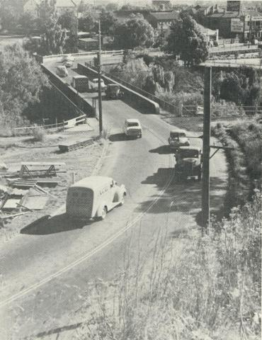 The Old Johnston Street Bridge, Abbotsford, demolished 1959