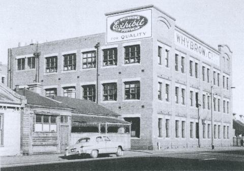 Whybrow Footwear Factory, Hoddle Street, Abbotsford, 1953