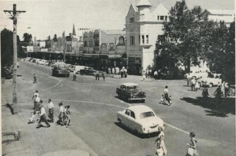 Reid and Murphy Streets, Wangaratta, 1960