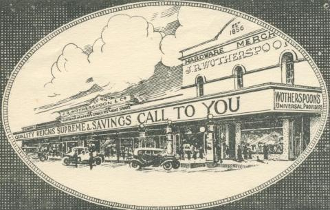 Wotherspoon Store, Beaufort, 1937