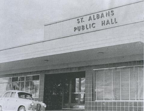 St Albans Public Hall, 1963