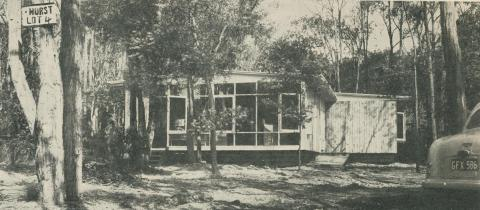 House in bush setting at Mitcham, 1958