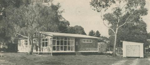 House in bush setting at Boronia, 1958