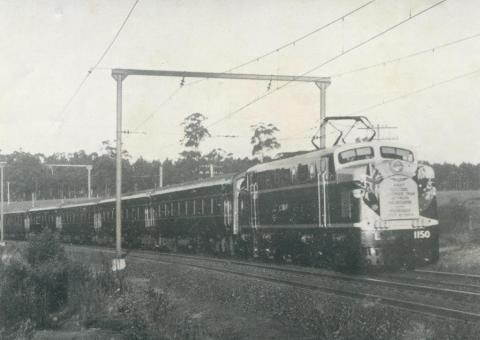 L Class Electric Locomotive, Warragul, 1954