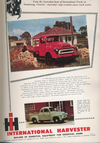 International Harvester, Dandenong, 1957