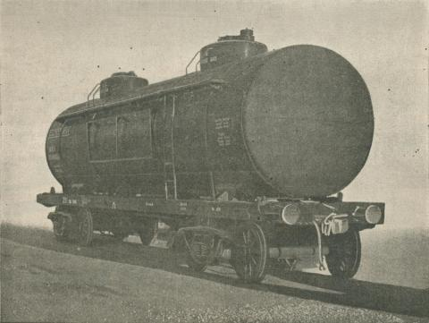 Rail Car Tank manufactured at Williamstown Works, 1957