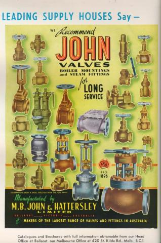 M.B. John & Hattersley, Wendouree, 1957