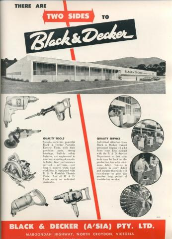 Black & Decker, Mooroolbark, 1957