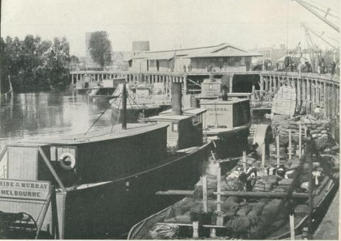 Steamboats on the Murray River, Echuca, 1950