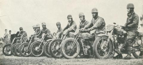 Members of the Motor Cycle Club, Echuca, 1950