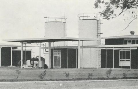 Storage vats at Petersville's Echuca Butter Factory, 1968