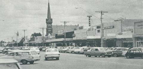 Shopping Centre, Hare Street, Echuca, 1968