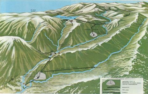 Map Kiewa Hydro Electric Scheme , 1971