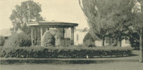 The Band Rotunda Gardens, Yallourn, 1961