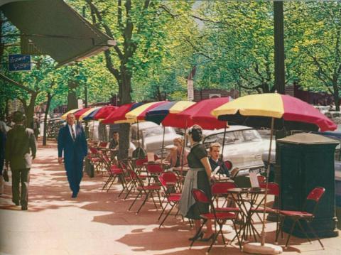 Pavement Cafe, Collins Street, Melbourne, c1958