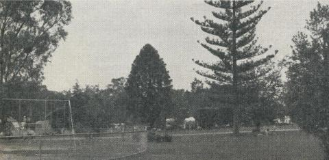 Victoria Park and adjacent Caravan and Camping Park, Echuca, 1961