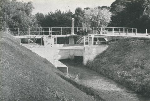 Control Gates on Outfall Sewer at Metropolitan Farm, Werribee, 1955