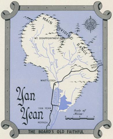 Map Yan Yean Reservoir, 1960