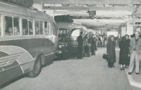 Bus Terminal, Hamilton, c1952