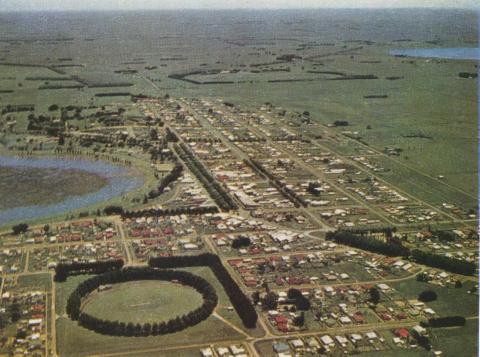 Aerial view of Terang, 1958