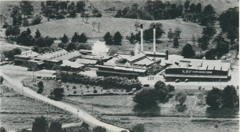 Korumburra butter factory, 1955