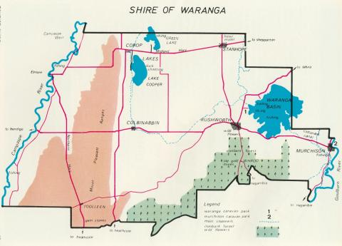 Map of the Waranga Shire, 1967