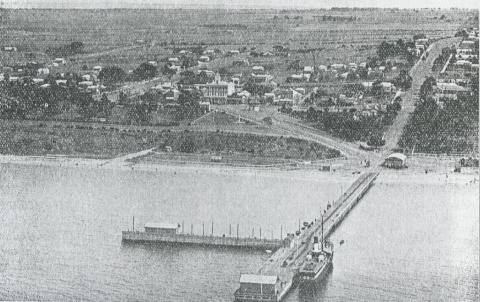 Aerial view of Portarlington, 1931