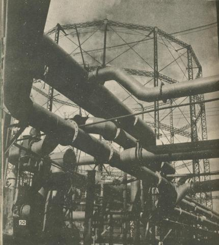 West Melbourne Gas Works, 1950
