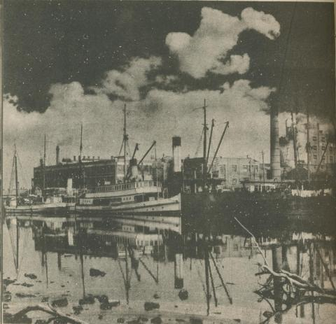 Ships at Footscray, 1950