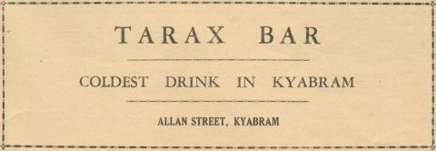 Tarax Bar, Kyabram, 1945