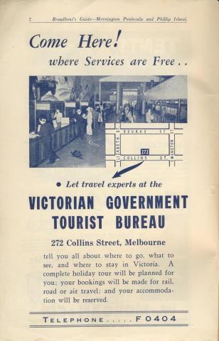 Victorian Government Tourist Bureau, 1949
