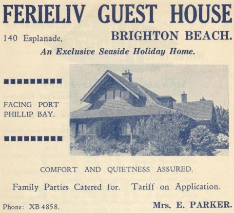 Ferieliv Guest House, Brighton Beach, 1949