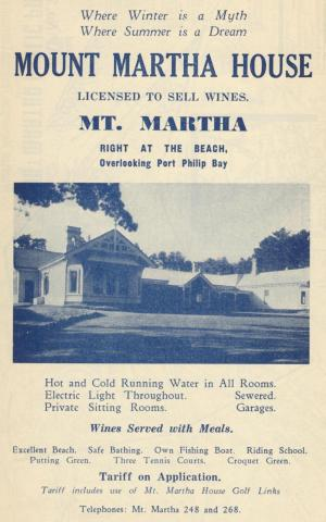 Mount Martha House, 1949