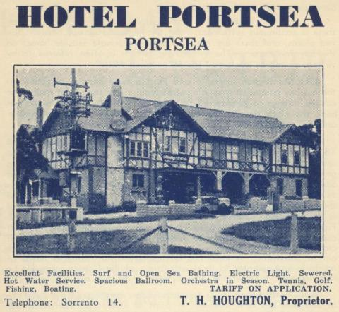 Hotel Portsea, 1949