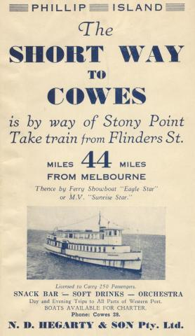 The short way to Cowes, 1949
